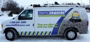 Traffic Erasers Commercial Floor Cleaning Van